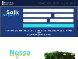 beijupiralodgenoronha.com.br screenshot