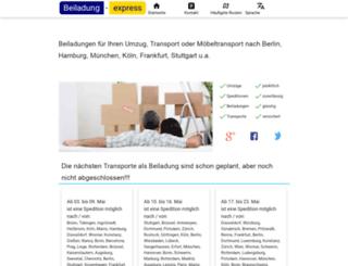 beiladung-express.de screenshot