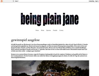 beingplainjane.blogspot.de screenshot
