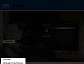 beko.co.uk screenshot