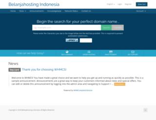 belanjahosting.com screenshot