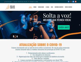 belasartesjoinville.com.br screenshot