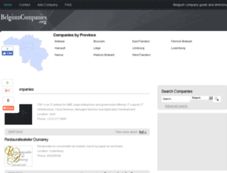 belgiumcompanies.org screenshot