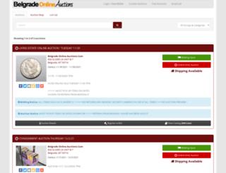 belgradeonlineauctions.hibid.com screenshot