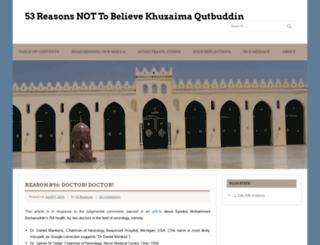 believesyednaqutbuddin.com screenshot
