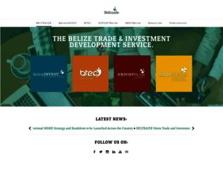 belizeinvest.org.bz screenshot