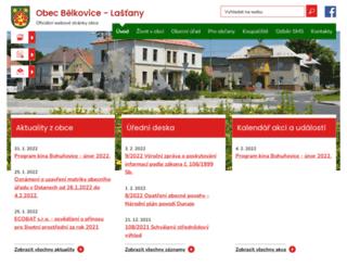 belkovice-lastany.cz screenshot