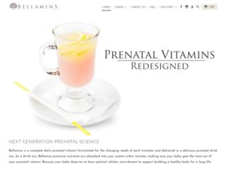 bellamins.com screenshot