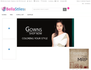 bellastiles.com screenshot