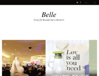 belledenuitmontreal.com screenshot
