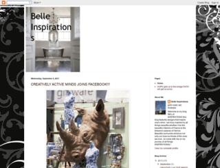 belleinspirations.blogspot.com screenshot