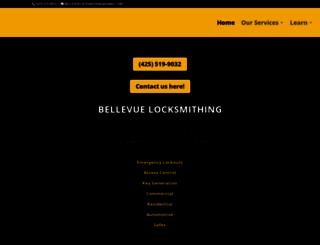 bellevuelocksmithing.com screenshot