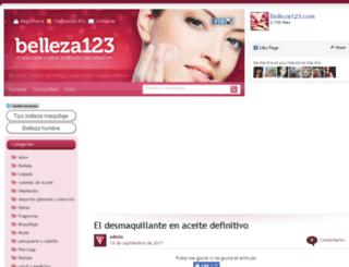 belleza123.com screenshot