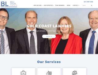 belllegal.com.au screenshot