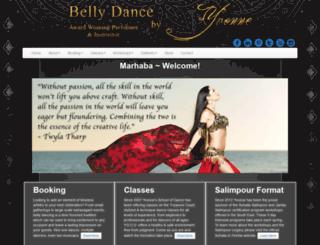 bellydancebyyvonne.com screenshot