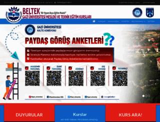 beltek.gazi.edu.tr screenshot