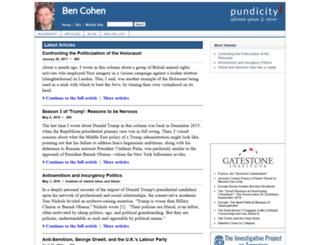bencohen.pundicity.com screenshot