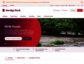 bendigobank.com.au screenshot