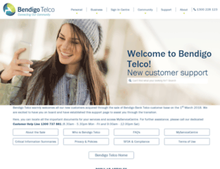 bendigobanktelco.com.au screenshot
