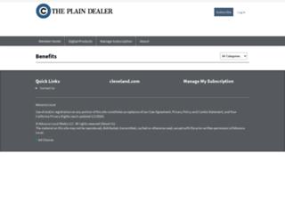 benefits.plaindealer.com screenshot