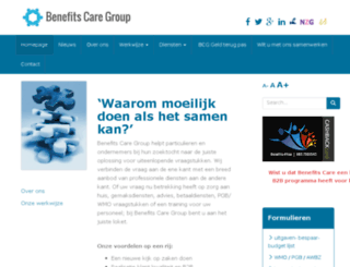benefitscaregroep.nl screenshot