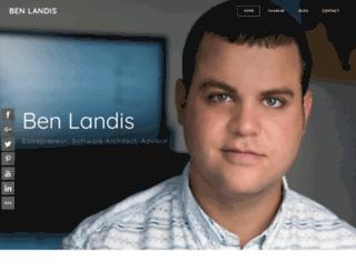 benlandis.com screenshot
