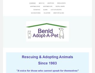 benldadoptapet.org screenshot