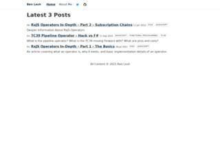 benlesh.com screenshot