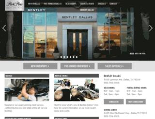 bentleydallas.parkplace.com screenshot