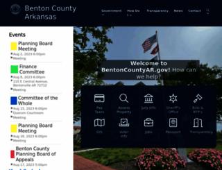 bentoncountyar.gov screenshot
