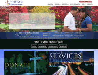 bereanchristianchurch.org screenshot