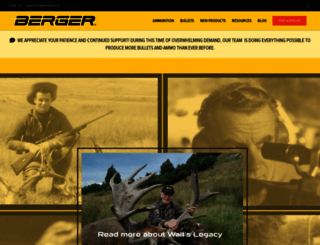 bergerbullets.com screenshot