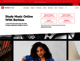 berkleemusic.com screenshot