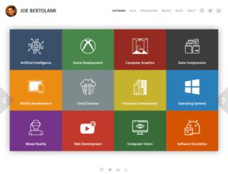 bertolami.com screenshot