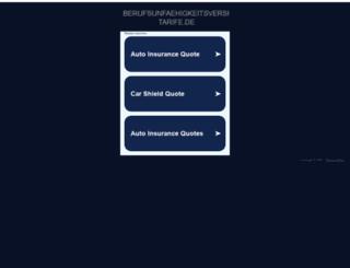 berufsunfaehigkeitsversicherung-tarife.de screenshot