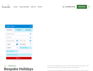 bespokeholidaysng.com screenshot