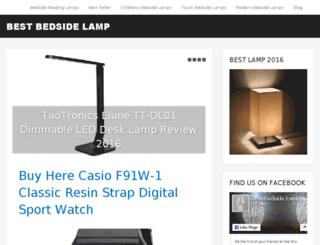 bestbedsidelamp.com screenshot