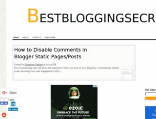 bestbloggingsecrets.com screenshot