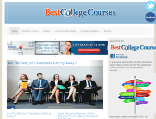 bestcollegecourses.com screenshot