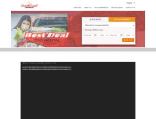 bestdealscarrental.com screenshot