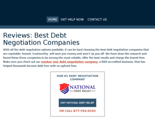 bestdebtnegotiationcompanies.com screenshot