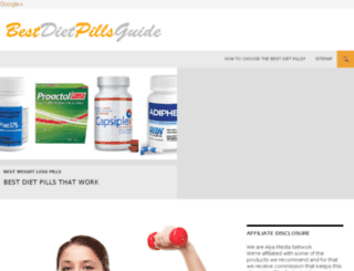 bestdietpillsguide.org screenshot