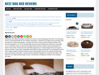 bestdogbedreviews.com screenshot