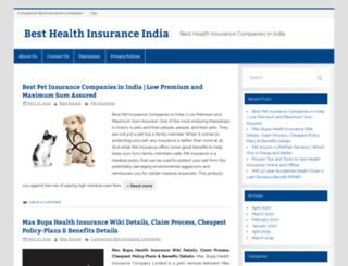 besthealthinsuranceindia.com screenshot