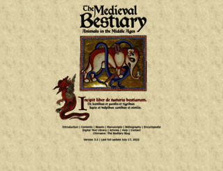 bestiary.ca screenshot
