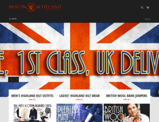 bestinscotlandkilts.com screenshot