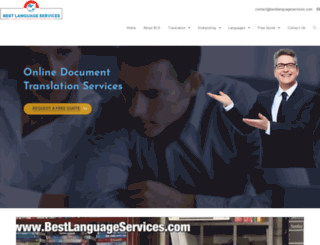 bestlanguageservices.com screenshot