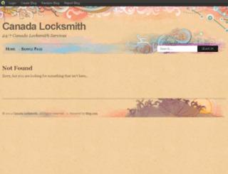 bestlocksmithcanada.blog.com screenshot