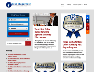 bestmarketingdegrees.org screenshot