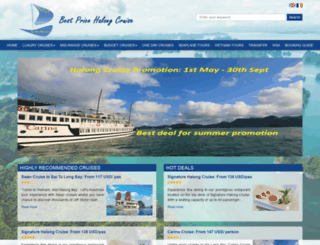 bestpricehalongcruise.com screenshot